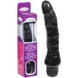 Vibromasseur Black Multi Speed réaliste - 23 cm