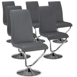 Lot de 6 chaises Facto Gris