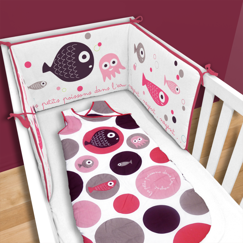 gigoteuse poissons roses pur coton b b fille p. Black Bedroom Furniture Sets. Home Design Ideas