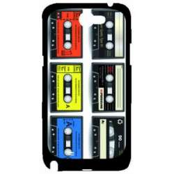 Coque Galaxy Note 2 cassettes audio rabltro