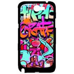 Coque Galaxy Note 2 mur tag graffitis