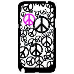 Coque Galaxy Note 2 symboles peace and love