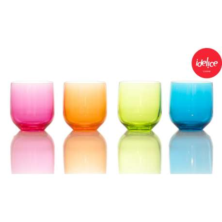 Lot de 4 verres boule en acrylique MS - 320ml