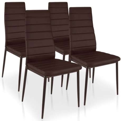 Lot de 4 chaises Stratus Marron