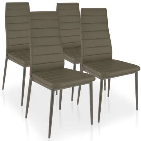 Lot de 4 chaises Stratus Taupe