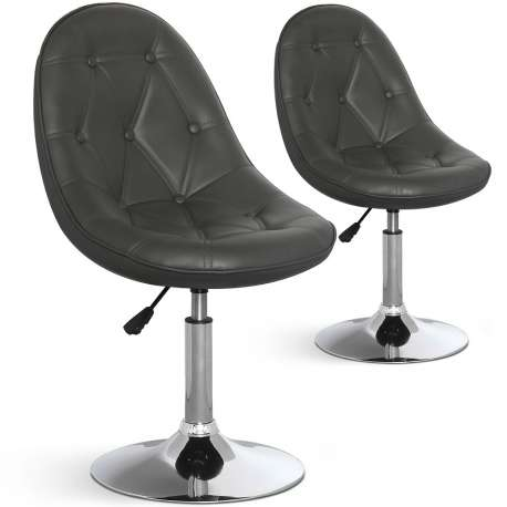 Lot de 2 chaises ajustables Boleo Gris