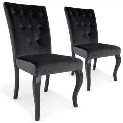 Lot de 2 chaises Beata velours Noir
