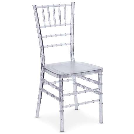 Lot de 10 chaises Chiavari Transparent