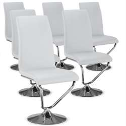 Lot de 6 chaises Facto Blanc