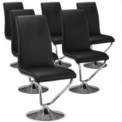 Lot de 6 chaises Facto Noir