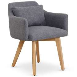 Chaise / Fauteuil scandinave Gybson Tissu Gris clair