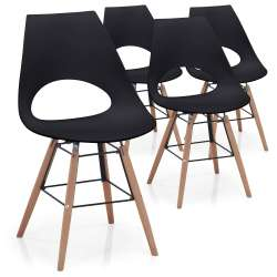 Lot de 4 chaises scandinaves Dani Noir