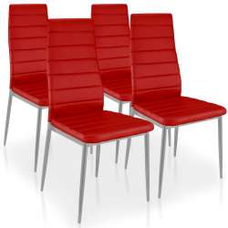 Lot de 4 chaises Stratus Rouge