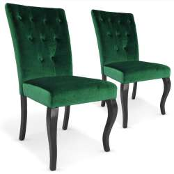Lot de 2 chaises Beata Velours Vert