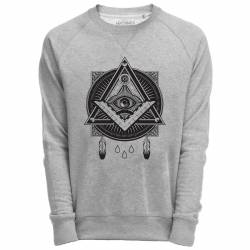 Sweat Shirt Gris imprimé graphique illuminati