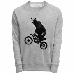 Sweat Shirt Gris imprimé rock animal