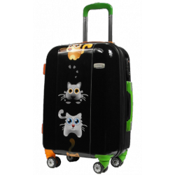 Valise polycarbonate petits chats