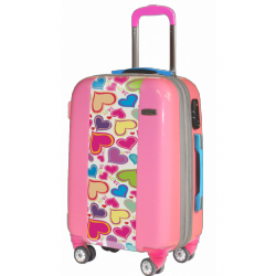 Valise polycarbonate Hearts Party