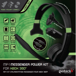 MP-1 Pour XBOX 360: Messenger Power Kit: (Casque MH1 + Play & Charge 800mAH Battery Pack)