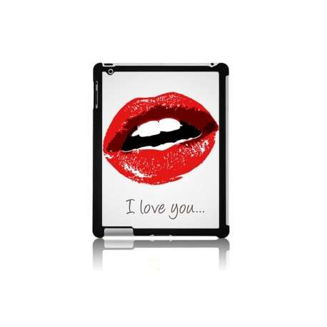 Coque Ipad bouche I love you